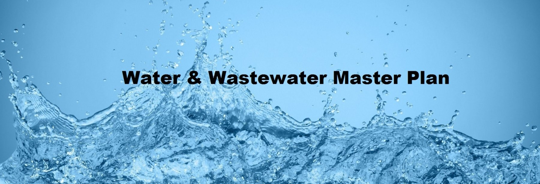 Water and Wastewater Master Plan banner