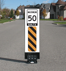 image of a flexible traffic sign