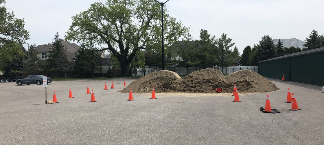 Image of sand pile in lakewood park