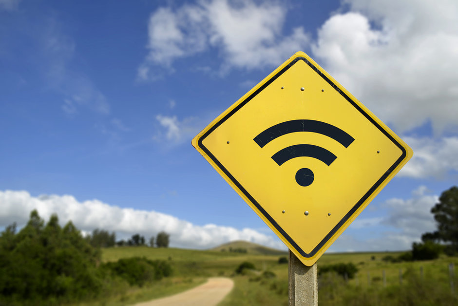 Wifi road sign
